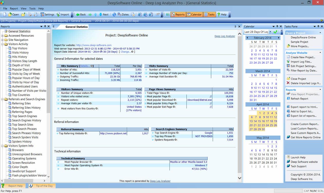 Deep Log Analyzer Professional screenshot